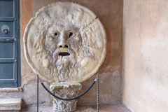 La Bocca della Verità (English: the Mouth of Truth) Royalty Free Stock Photos