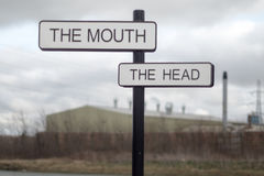 La bocca e la testa Fotografie Stock