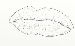 La bocca ha progettato per allungare la donna Immagini Stock