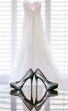 La boda calza los tacones altos Fotografía de archivo libre de regalías