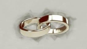 La boda de la boda casa los anillos de bodas del anillo de bodas de los anillos del anillo Imagen de archivo
