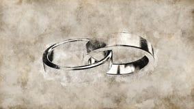 La boda de la boda casa los anillos de bodas del anillo de bodas de los anillos del anillo Foto de archivo