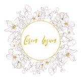 La boda decorativa del vector invita Plantilla elegante de la postal foto de archivo libre de regalías