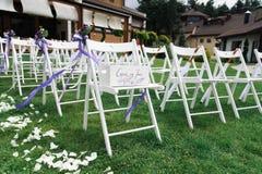La boda preside hermoso adornado Fotografía de archivo