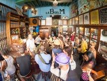 La Bodeguita del Medio, H的全世界著名古巴餐馆 免版税库存图片