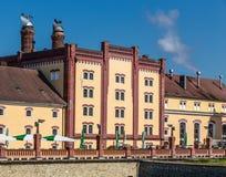 La Boemia Regent Brewery - Trebon, repubblica Ceca fotografie stock libere da diritti