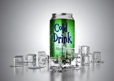 La boisson froide peut illustration de vecteur