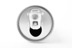 La boisson peut de l'aluminium blanc Image stock