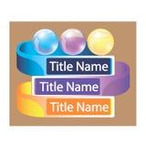 La bola de cristal etiqueta tres opciones Imagenes de archivo