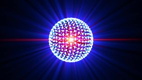 La bola de discoteca móvil irradia el fondo