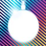 La bola de la Navidad es un fondo. stock de ilustración