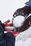 La bola de la nieve Imagen de archivo libre de regalías