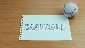 La bola de salto del béisbol almacen de video