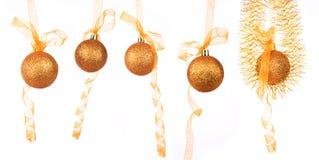 La bola del Año Nuevo del oro Imagenes de archivo