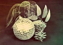 La bola del Año Nuevo del vintage Imagen de archivo