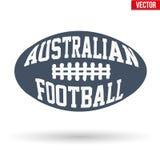 La bola del australiano gobierna fútbol con tipografía Imágenes de archivo libres de regalías