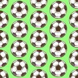La bola del fútbol del bosquejo, vector el modelo inconsútil stock de ilustración