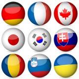 La bola del indicador nacional fijó 3 stock de ilustración