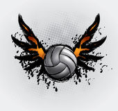 La bola del voleibol fijó 6 ilustración del vector