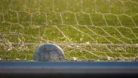 La bola miente en la meta del fútbol, campeonato del fútbol metrajes