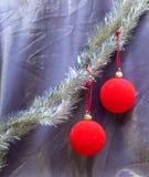 La bola roja del Año Nuevo Foto de archivo
