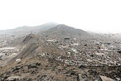 La Bolivia/vista capitale di La Paz dal mirador immagini stock libere da diritti