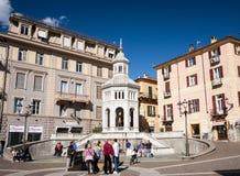 The La Bollente hot spring, Acqui Terme stock photos