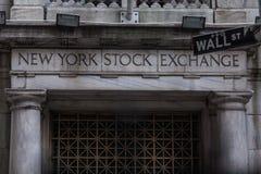 La Bolsa de Nueva York Foto de archivo libre de regalías