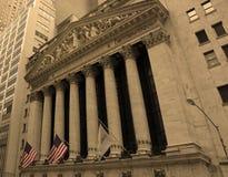 La Bolsa de Nuevo York de Wall Street Imágenes de archivo libres de regalías