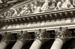 La Bolsa de Nuevo York Wall Street Imagen de archivo libre de regalías