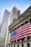 La Bolsa de Nuevo York, Wall Street, NYC Fotos de archivo libres de regalías