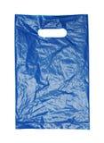 La bolsa de plástico azul arrugada Fotografía de archivo