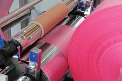 La bolsa de plástico de la producción Imágenes de archivo libres de regalías