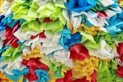 La bolsa de plástico del rollo del color foto de archivo