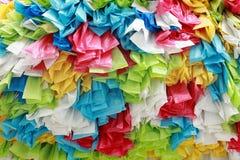 La bolsa de plástico del rollo del color Fotografía de archivo