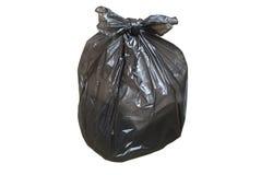 La bolsa de plástico disponible por completo de basura aislada Imagenes de archivo