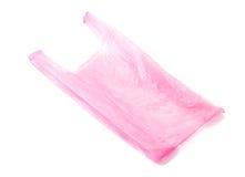 La bolsa de plástico en blanco Foto de archivo
