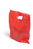 La bolsa de plástico roja Imagenes de archivo
