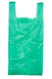La bolsa de plástico verde Imagen de archivo libre de regalías