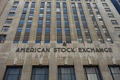 La bolsa de valores americana Fotografía de archivo libre de regalías