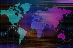 La bolsa global stock de ilustración