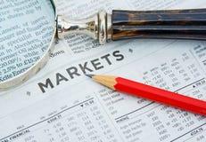La bolsa: inversión. Imagen de archivo libre de regalías