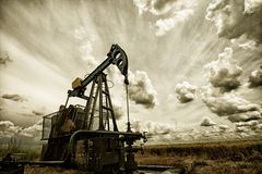 La bomba de aceite Fotografía de archivo