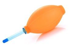 La bomba de goma del ventilador para el limpiador del polvo in camera y len Fotografía de archivo libre de regalías