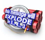 La bomba de relojería este mensaje estallará plazo de la cuenta descendiente libre illustration