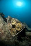 La bomba descasca el submarino. Fotos de archivo libres de regalías