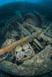La bomba descasca el submarino. Imágenes de archivo libres de regalías