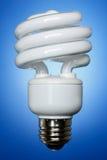 La bombilla de CFL, afronta encendido Fotos de archivo libres de regalías