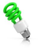 La bombilla verde Imagen de archivo libre de regalías