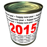 La bonne année 2015 - pouvez Images stock